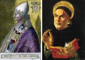 القديس توما الأكويني، البابا إنوسنت الرابع